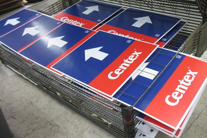 Screen printed corflute signs - Boneida Print
