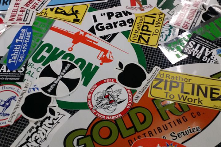 Screen printed stickers - Boneida Print